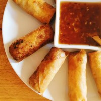 Thai Spring Rolls with a Spicy Sweet Chili Dipping Sauce