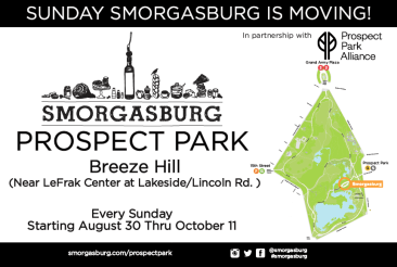 Sunday (Noon): Smorgasburg is moving to Prospect Park! Check out its new digs this Sunday for the very first time.