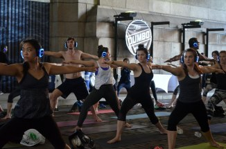 Tuesday (7pm): Sound Off Yoga Under the Manhattan Bridge. These 1 hour events are filled with progressive beats, trance and ambient music that help you escape the noise of the city, while you practice yoga in it's heart. 155 Water Street. Brooklyn.