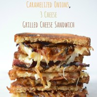 Bacon, Caramelized Onion, 3 Cheese Grilled Cheese Sandwich