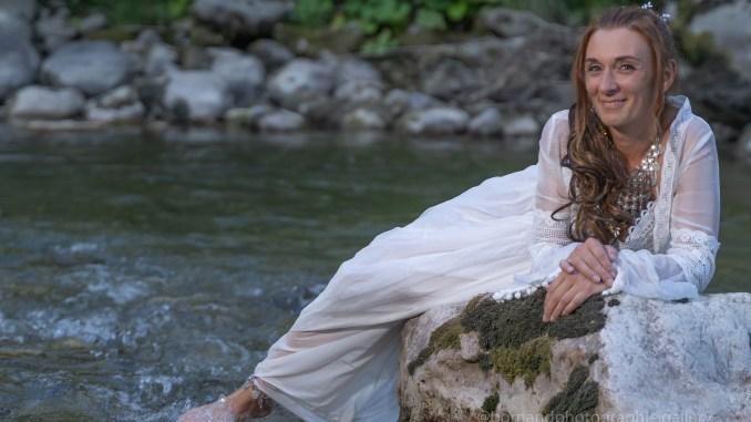 Mariée en rivière