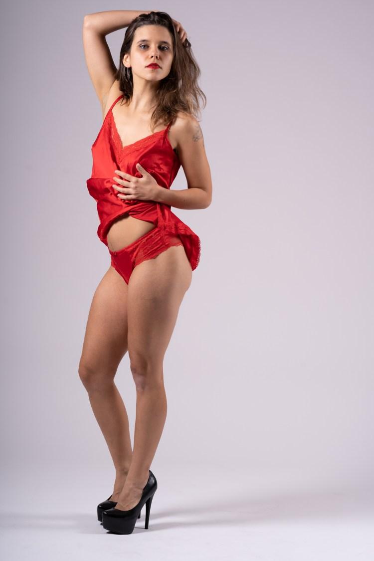 modèle en rouge