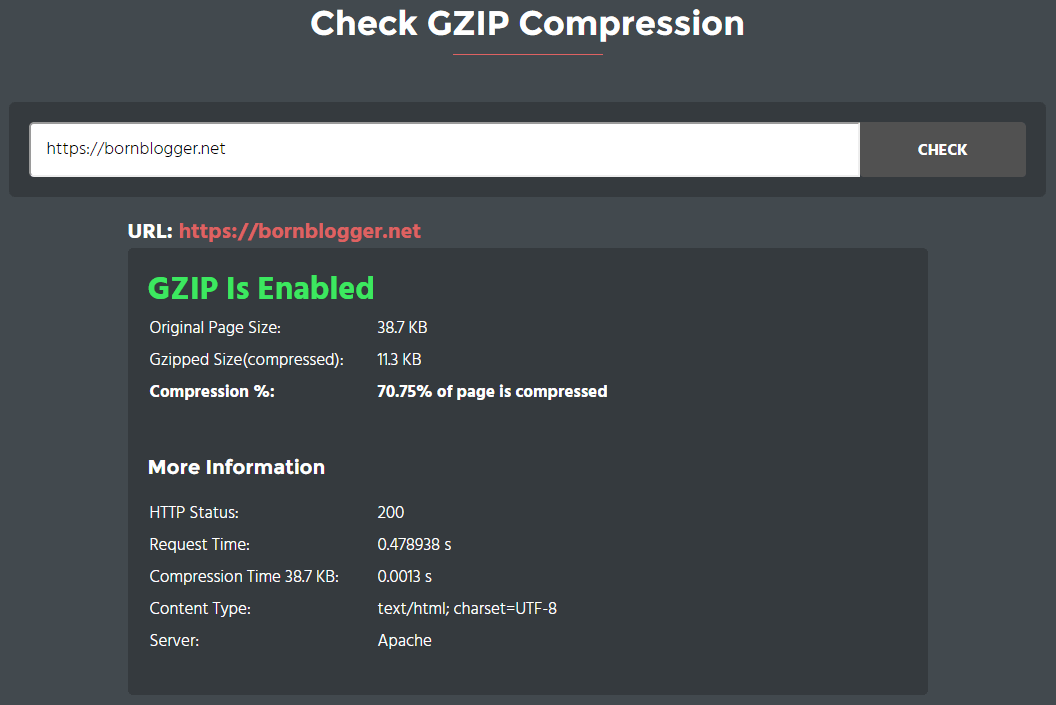 Enabling GZIP Compression
