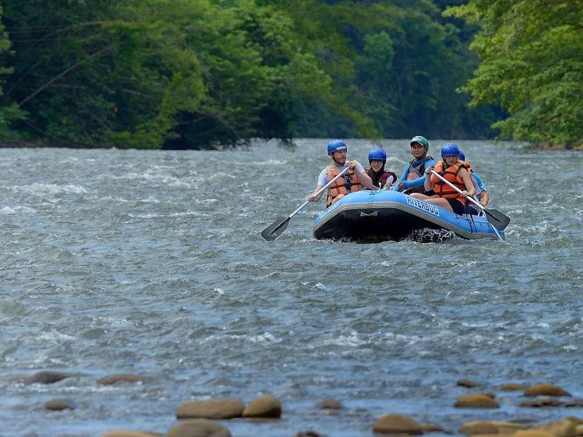 White water rafting on the Kiulu River near Kota Kinabalu