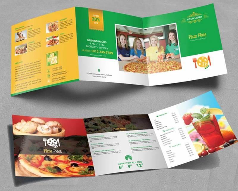 contoh brosur makanan pizza dalam bahasa inggris