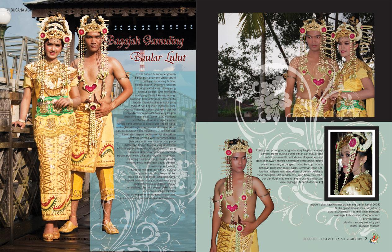 pakaian adat tradisional daerah kalimantan selatan