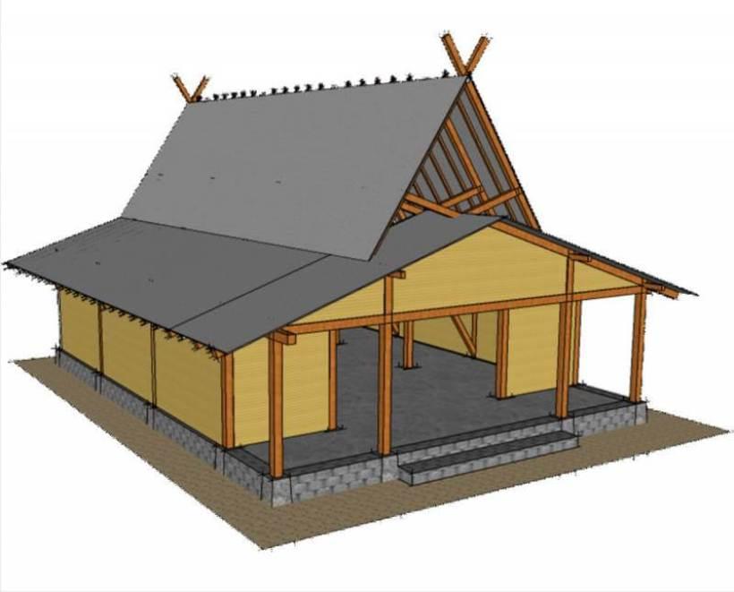 Arsitektur Rumah Adat Jawa Barat.
