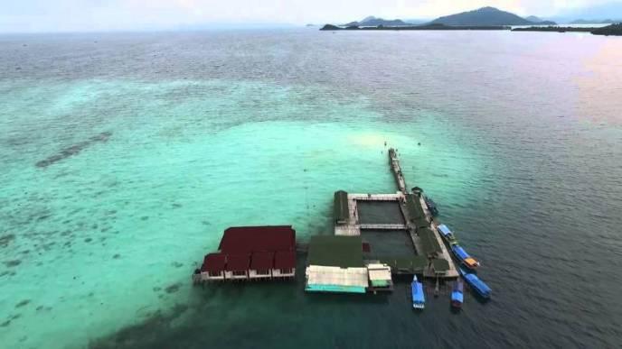 Pantai Pasir Timbul Lampung