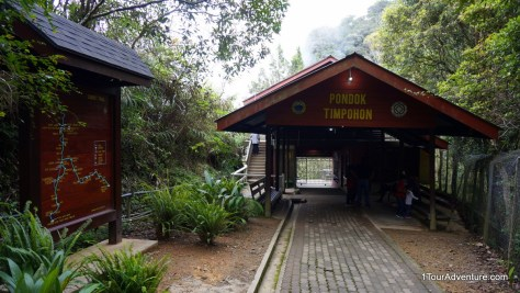 Starting point at Timpohon gate to reach summit of Mt. Kinabalu