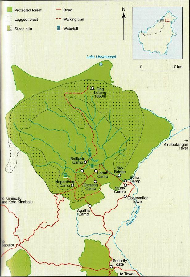 Maliau Map