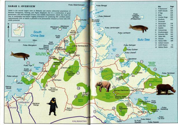 Sabah Map Enhanced