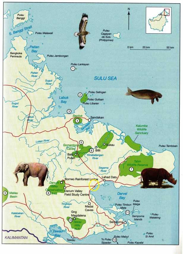 Gunung Silam on East Sabah map.jpg