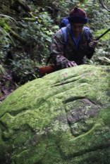 Carved stones - On the way to Batu Lawi