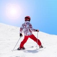 Med børn på ski