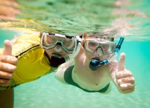 årets ferier, ungerne dykker