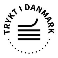 Trykt i Danmark logo