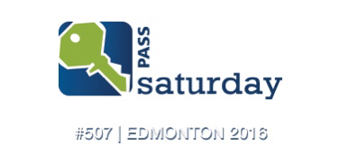 Speaking at SQLSaturday 507 this weekend in Edmonton
