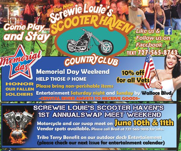 Screwie Louie's Scooter Haven Memorial Day Weekend