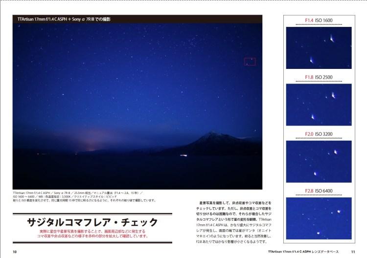 銘匠光学 TTArtisan 17mm f/1.4 C ASPH 星空撮影による「サジタルコマフレア」チェック