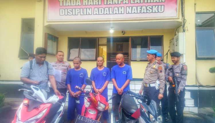 NEWS; Tiga pelaku pencurian sepeda motor di Dukun diamankan Polisi (23/1/2020)-(Foto: bsn)