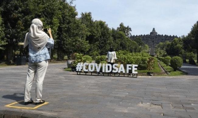 BANGKIT: Suasana Candi Borobudur di tengah pandemi covid-19. (foto: internet)