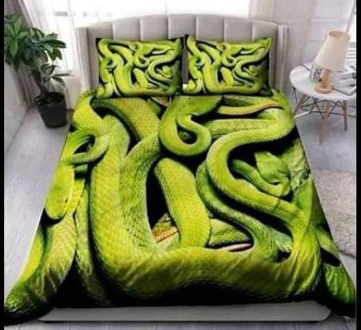 Sprei atau Bed Cover 3D Ular 1