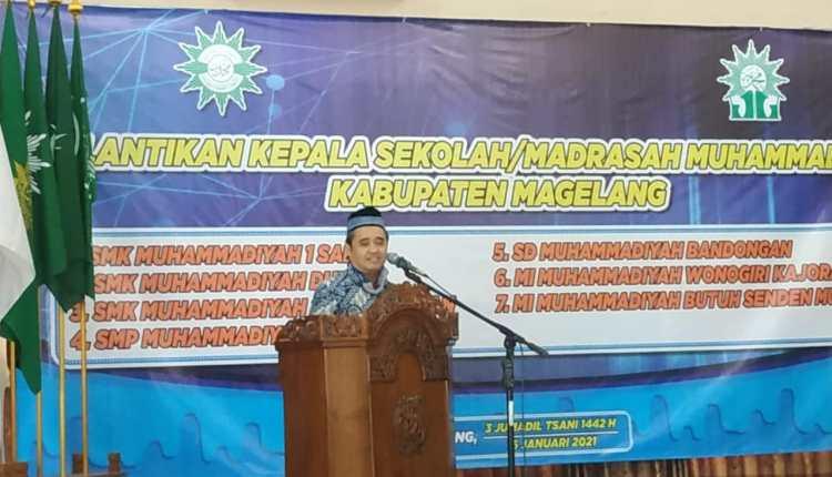 Acara pelantikan beberapa kepala sekola muhammdiyah di Magelang (16/1/2021)