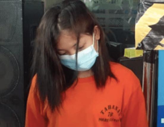 SABU: VY, 22, wanita asal Jogonegoro, Mertoyudan, Kabupaten Magelang diamankan Polres Sleman. (foto: istimewa)