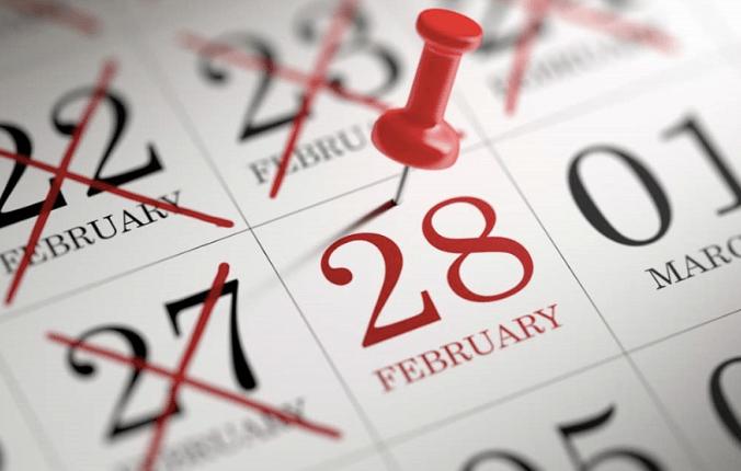 UNIK: Februari menjadi satu-satunya bulan yang hanya memiliki 28 dan 29 hari. (gambar: internet)