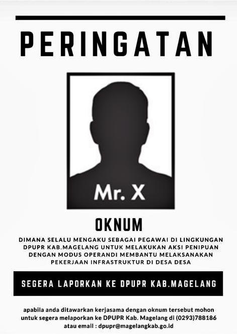 Peringatan Dari DPUPR Kabupaten Magelang