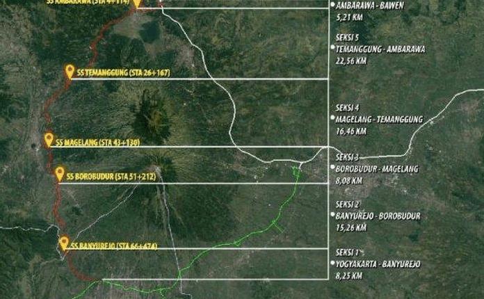 MASTER PLAN: Peta konstruksi jalan tol Jogja-Bawen. (dok istimewa)