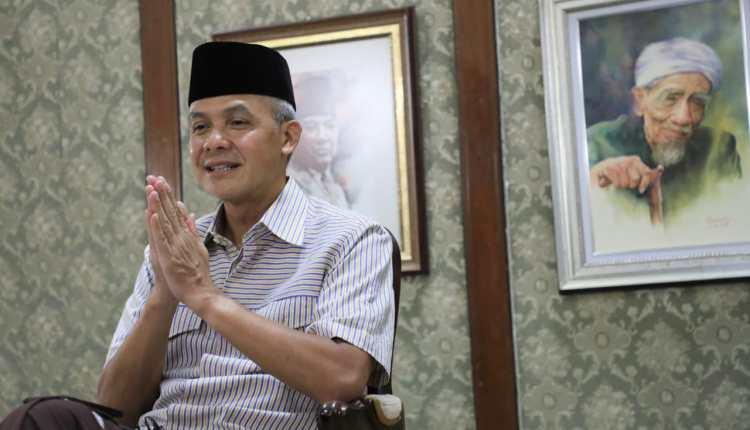 Ganjar Pranowo saat menyampaikan pesan kepada Kepala Daerah di wilayahnya