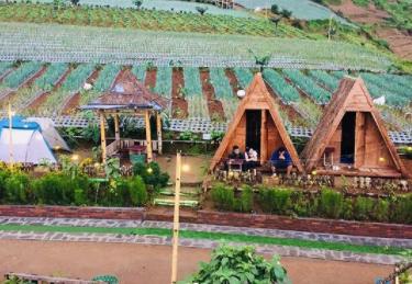 Destinasi wisata Mangli Sky View di Dusun Mangli Kaliangkrik Kabupaten Magelang cocok buat camping tanpa ribet. (foto: Instagram @Mangliskyview)