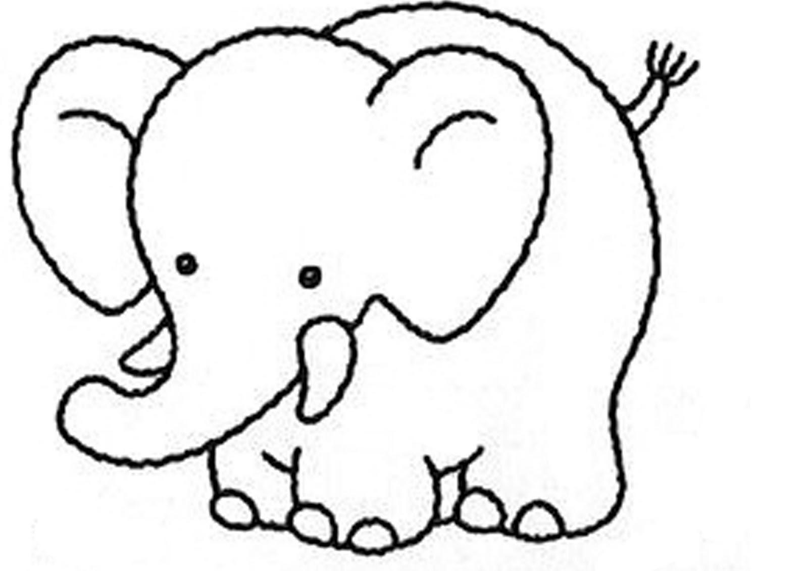 Printable Elephant Coloring Worksheet 1 Printable