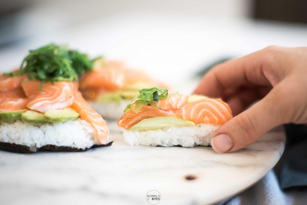 sushi taart