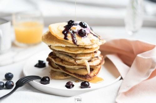 American pancakes met bosbessen