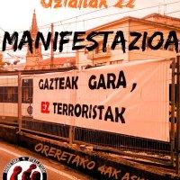 U22 manifestazioa. Gazteak gara ez terroristak. Oreretako 4ak askatu!