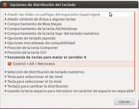 Atajo cambiar servidor X