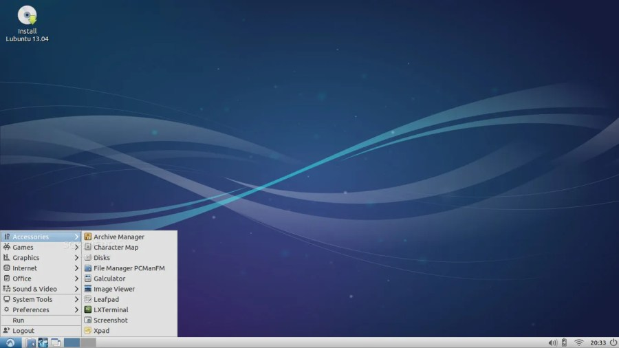 Lubuntu 13.04 screenshot