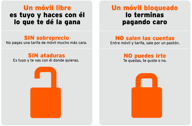 Diferencias entre movil libre y no libre
