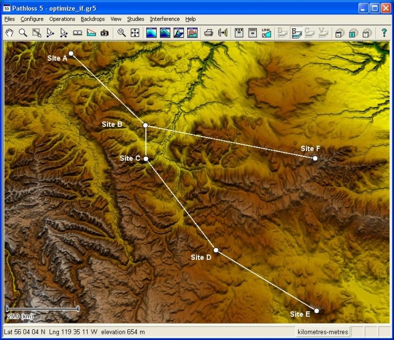 tutorial pathloss paso a paso topografico RF design