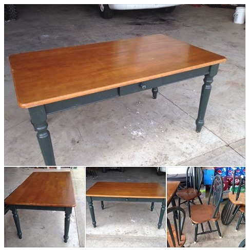 Refinishing a Dining Room Table with Polyshades - Borrowed ...