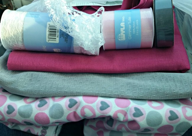Some of the fabric we purchased for the backdrop.