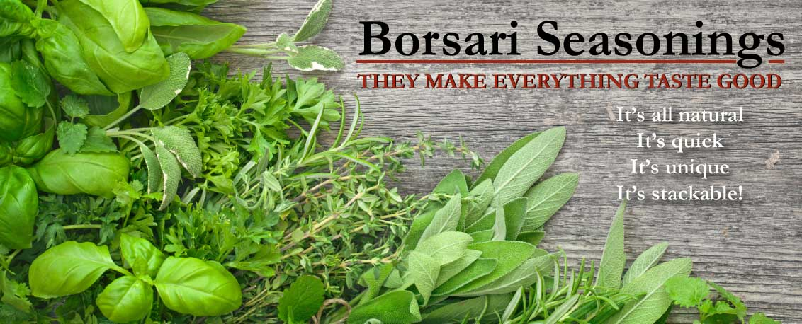 Borsari Seasoning Salts make everything taste good