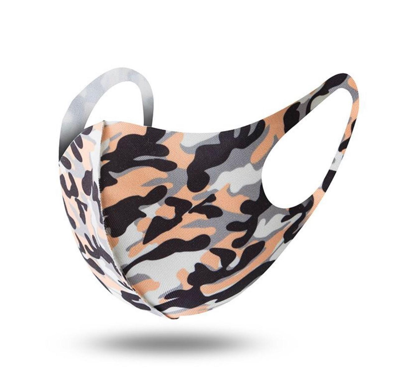Colorful Fashion Camo Mouth Cover Breathable Dust-Proof