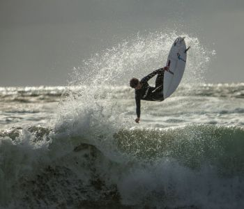 Surfer in the air