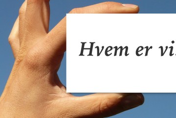 FEATURED IMAGE: Hvem er vi?