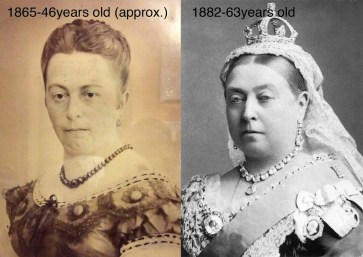 The mysterious lady comparing to the Queen Victoria