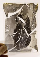 glass negative with cracked collodion emulsion