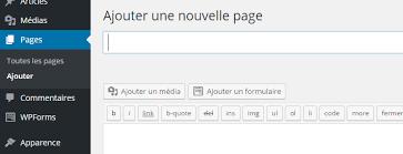 Ajouter une page WordPress